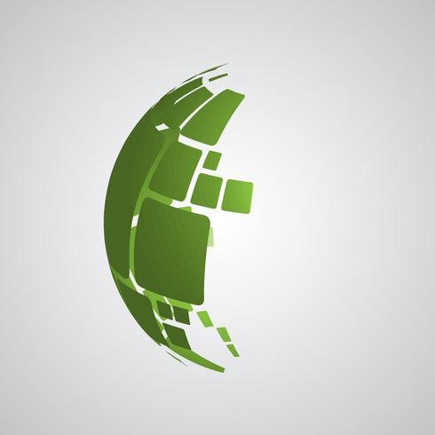 Illustration de conception vectorielle 3D globe pour la publicité