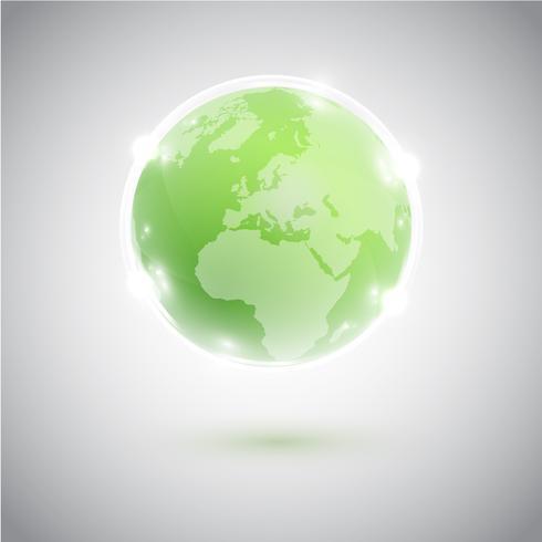 Globo verde, ilustración vectorial vector