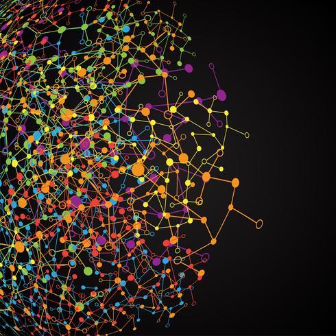 Abstrakter polygonaler Hintergrund mit verbundenen Punkten und Linien, Verbindungsstruktur, futuristischer Hud, Vektorillustration