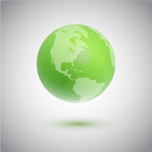 Globe vert, illustration vectorielle