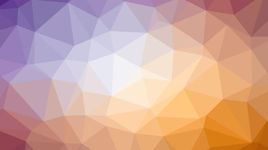 Conception de connexion polygonale colorée avec, illustration vectorielle low poly