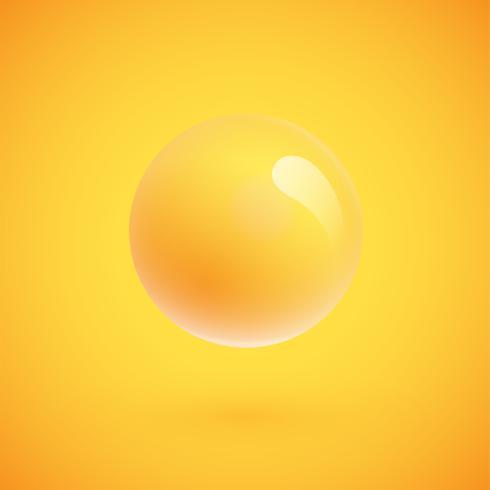 Kleurrijke bollen zwevende, realistische vectorillustratie