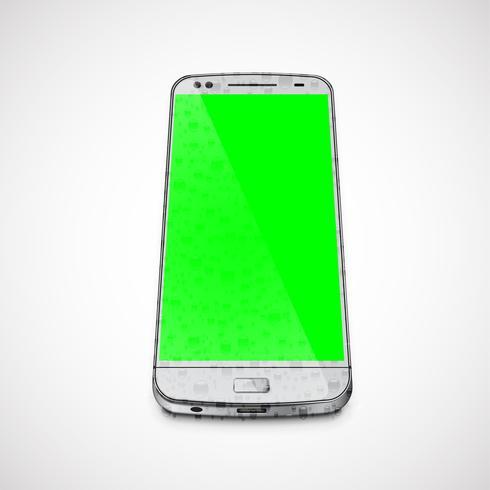 Realistische, hoog-gedetailleerde natte cellphone, vectorillustratie
