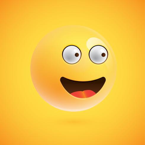 Emoticon realistico, illustrazione vettoriale