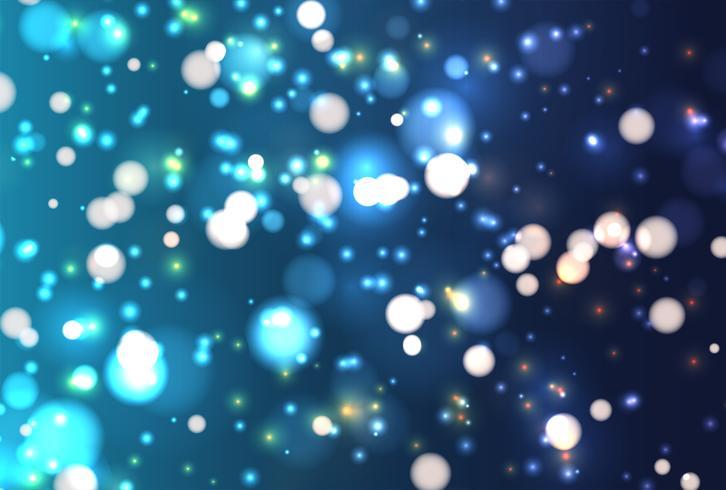Brillo realista colorido brilla con bokeh, ilustración vectorial