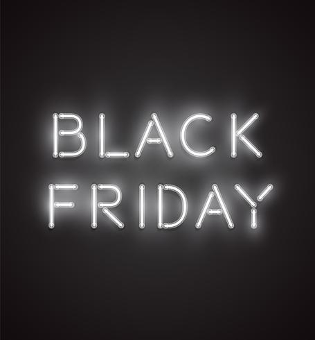 Black Friday Realistic Neon Sign Vector Illustration Download Free Vectors Clipart Graphics Vector Art