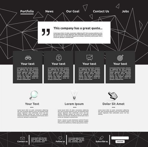 Modern website template for business, vector illustration