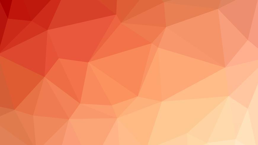 Diseño de conexión poligonal colorido con ilustración de vector de baja poli