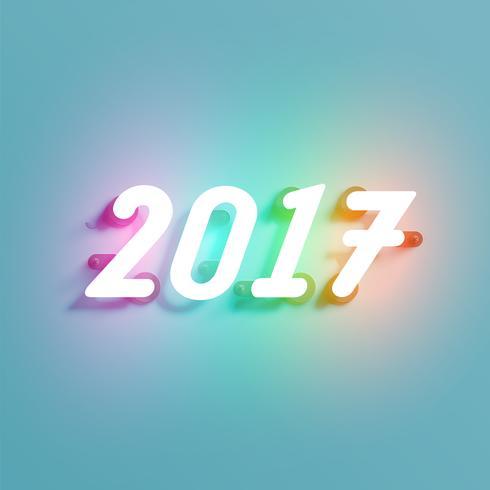 Glänzendes Zeichen des Neons 2017, Vektorillustration