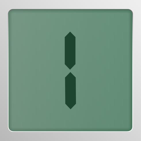 Digitale karakterset lettersoort op het scherm, vectorillustratie