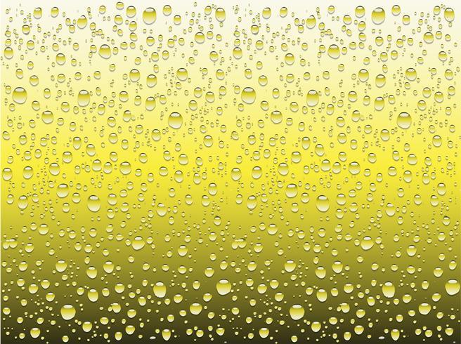 Gotas de agua realistas en un vaso liso, ilustración vectorial vector