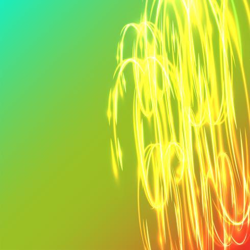 Círculos borrosos de neón en un fondo azul, ejemplo del vector. vector