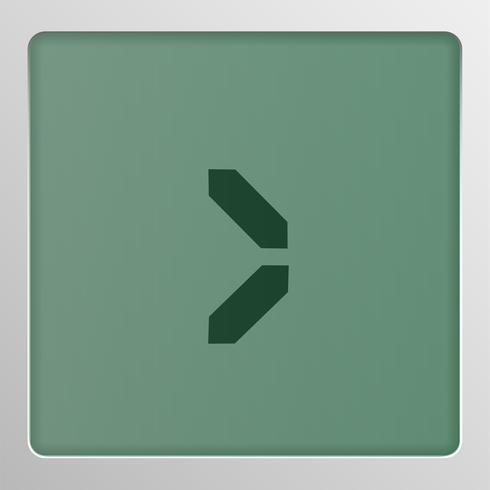 Digital teckenuppsättning typsnitt på en skärm, vektor illustration