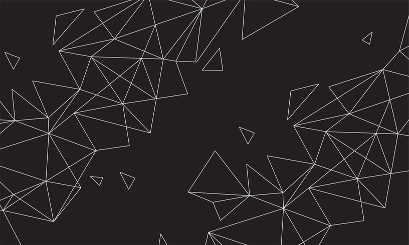 Abstrato colorido poligonal com pontos conectados e linhas, estrutura de conexão, fundo futurista hud, imagem de alta qualidade com peças turva
