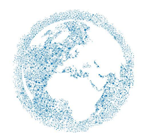 Globe terrestre sur fond blanc, illustration vectorielle
