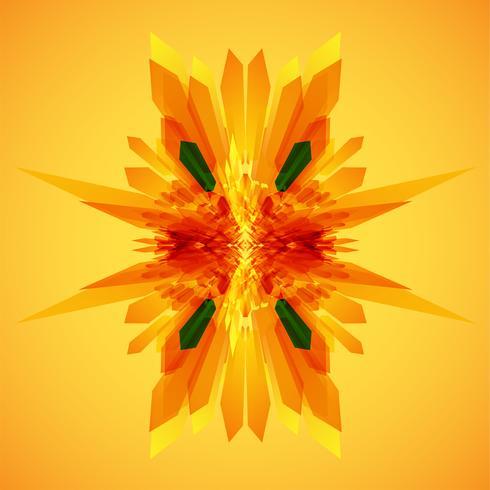 Arancione e frecce verdi nel vettore di movimento