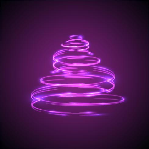 Effetto incandescente e scintillante dell'albero di Natale per la pubblicità