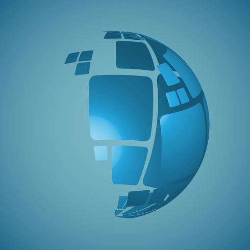 3D globe vector design illustration for advertising