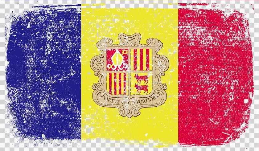 Bandera estilo Grounge, ilustración vectorial