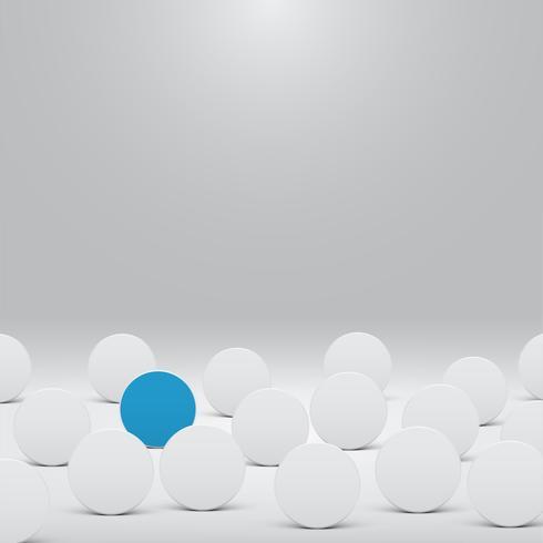 Witte sjabloon voor websites of producten, realistische vectorillustratie