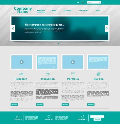 Plantilla de sitio web moderno para los negocios, ilustración vectorial