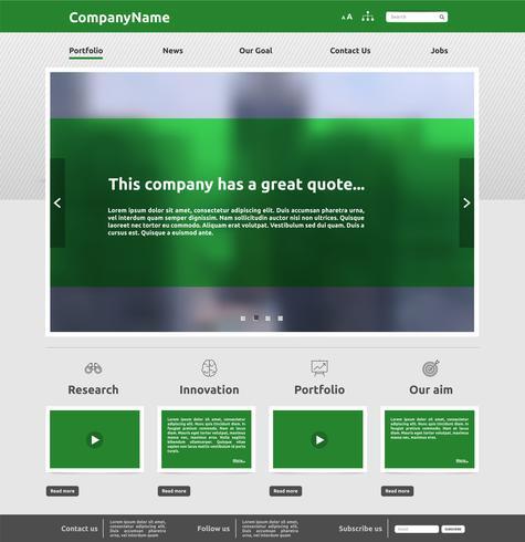 Modelo de site moderno para negócios, ilustração vetorial