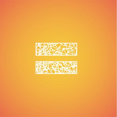 Netto teckensnitt från ett typsätt, vektorfont