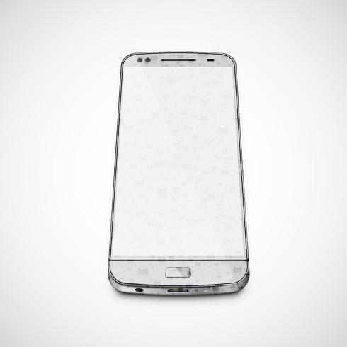 Realista, teléfono celular mojado de alto nivel de detalle, ilustración vectorial