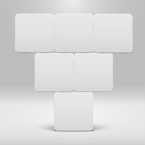 Witte sjabloon voor websites of producten, realistische vectorillustratie vector