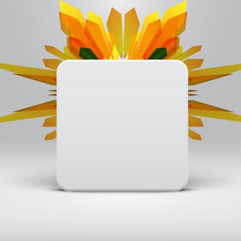 Plantilla abstracta blanca con fondo de flechas amarillas, vector