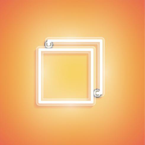 Brillante icono de neón realista para web, ilustración vectorial vector