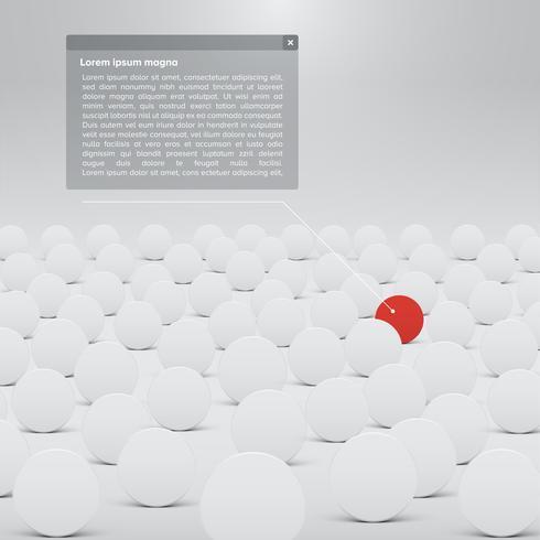 Modello bianco per siti Web o prodotti, illustrazione vettoriale realistico