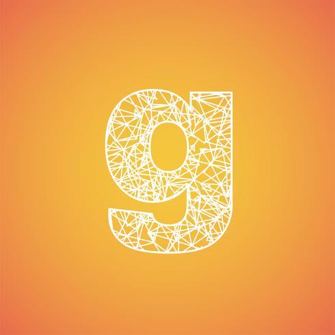 Net font from a typeset, vector font