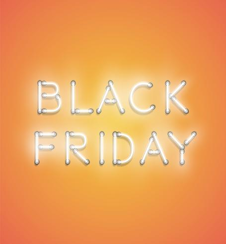 'BLACK FRIDAY' - Realistic neon sign, vector illustration