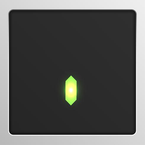 Caractère de jeu de caractères numériques sur un écran, illustration vectorielle