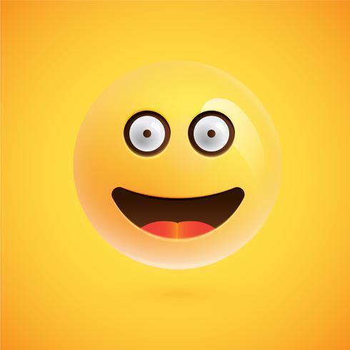 Realistischer Emoticon, Vektorillustration