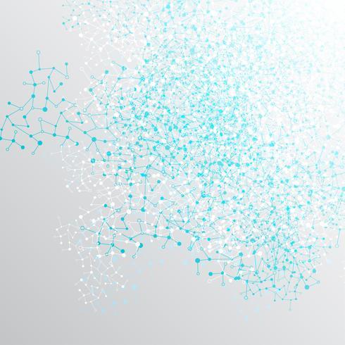 Abstrato colorido poligonal com pontos conectados e linhas, estrutura de conexão, fundo futurista hud, ilustração vetorial