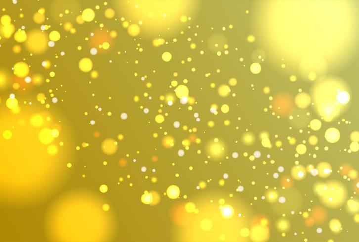 Brillo realista colorido brilla con bokeh, ilustración vectorial vector