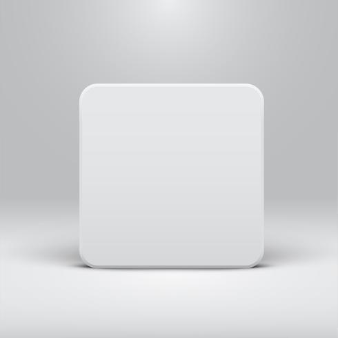 Modèle blanc pour des sites Web ou des produits, illustration vectorielle réaliste