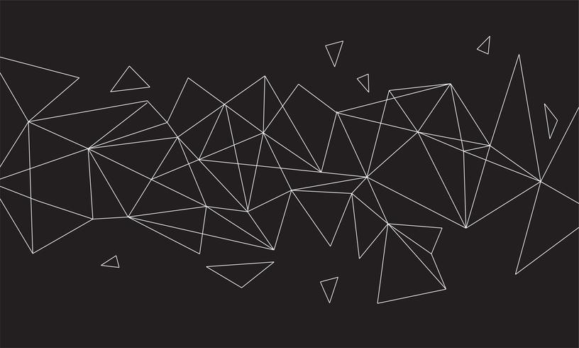 Fondo colorido abstracto poligonal con puntos y líneas conectadas, estructura de conexión, fondo futurista hud, imagen de alta calidad con partes borrosas