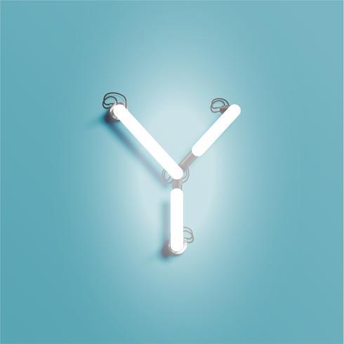 Realistisk neon karaktär från en stilsort, vektor illustration