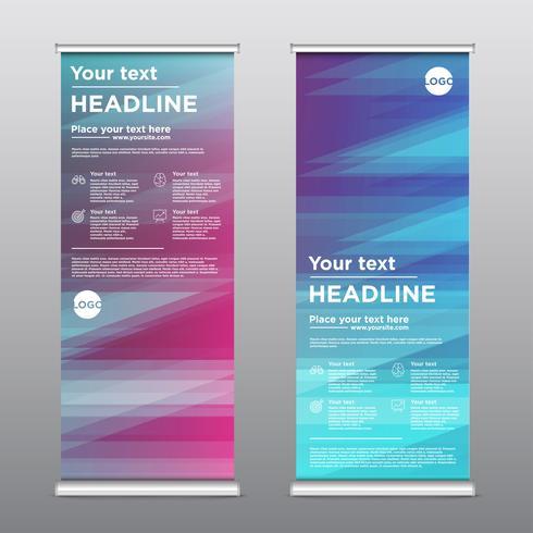Colorful rollup design flyer, vector illustration