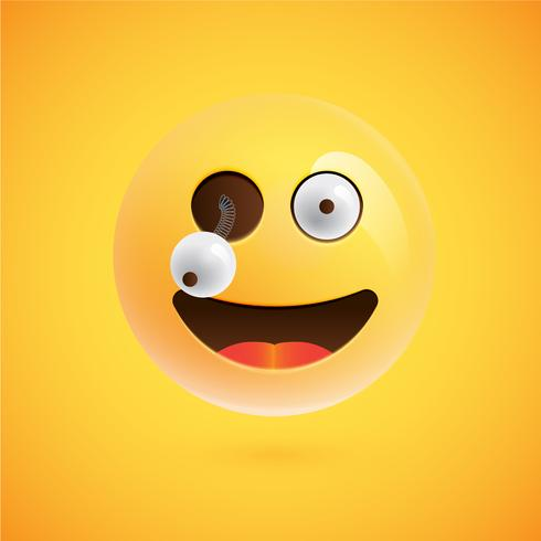 Realistischer Emoticon, Vektorillustration