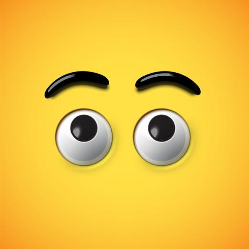 Ojos de alta emoticonos detallada, ilustración vectorial