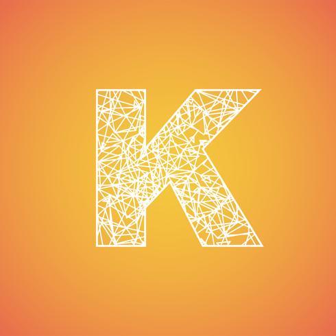 Netto-lettertype van een gezet, vectorlettertype