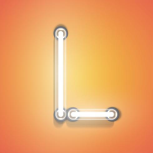 Realistisk neon från en uppsättning, vektor illustration
