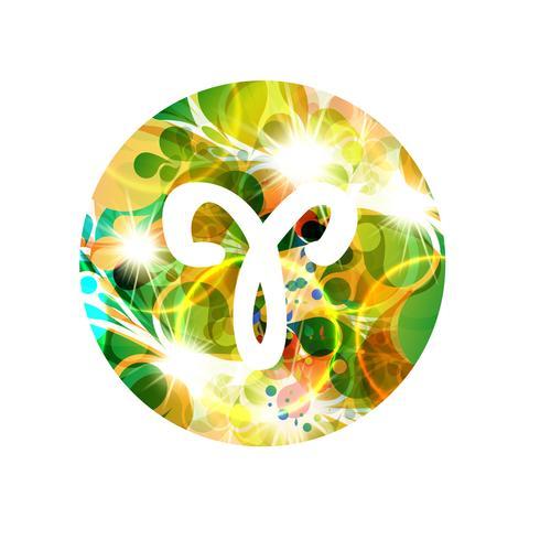 Un signo del zodiaco de aries, ilustración vectorial
