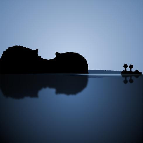 Realistiskt landskap bildar en fiol, vektor