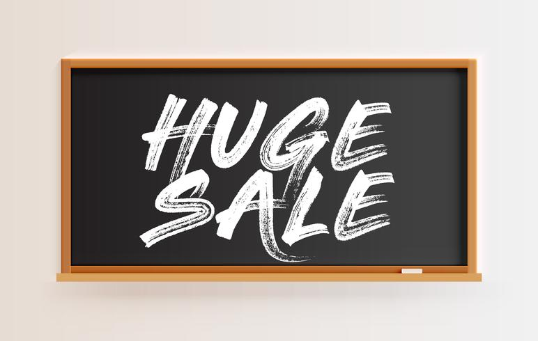 "Hög detaljerad tavla med ""HUGE SALE"" -titel, vektor illustration"