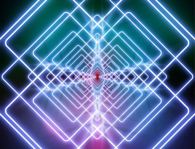 Fond de lumière néon très détaillée, illustration vectorielle